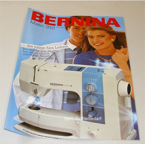 Bernina 910 Matic, Prospekt