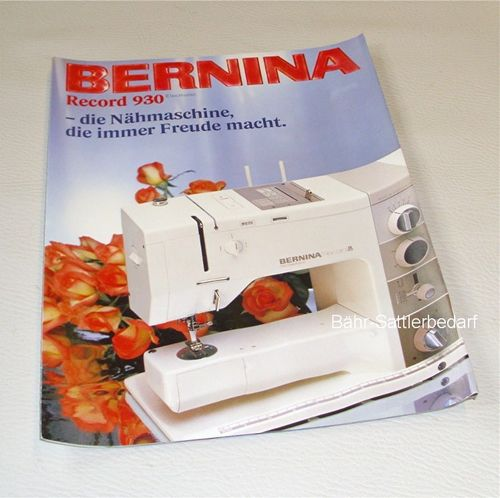 Bernina Record 930 electronic, Prospekt
